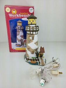 Santa's Workbench Towne Series LIGHT HOUSE Christmas Village Light-Up Building