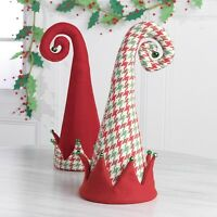 Raz18 Christmas Houndstooth/red Elf Hat Tree Topperwreath/swag/shelf/ornament