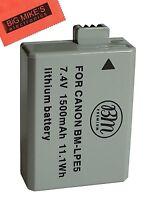 Bm Premium Lp-e5 Battery For Canon Rebel Kiss X3, Kiss X2, Kiss F Digital Camera