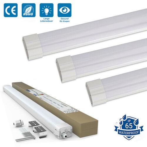 LED Feuchtraumlampe Ultraslim Deckenleuchte Keller Nassraum Wannenleuchte Lampe