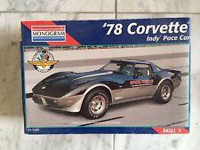 1978 Corvette Indy 500 Pace Car Plastic Model Car Kit by Monogram 1/24 Scale