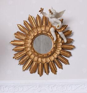 Venezianischer Sonnenspiegel Engelskulptur Barockengel Wandspiegel Puttenfigur Mit Dem Besten Service