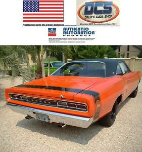 Details about 1969 Dodge Coronet Super Bee Gloss Black Tape Stripe Kit New  MoPar Licensed
