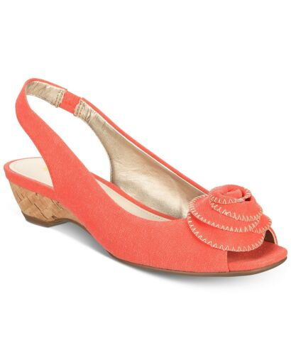 Orange Pumps Toe Slingback Peep Klein 6m Anne 70 Harietta 740372344875 YPAna
