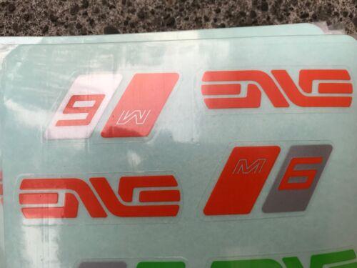 Enve M6 Handlebar Decals Color Options