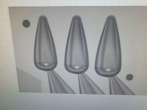 environ 99.22 g environ 85.05 g environ 113.40 g 3.5 Oz Pêche 3IN1 3 oz 4 oz Heli Plomb Moule CNC en aluminium