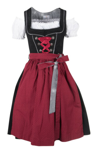 Ramona Lippert Dirndl Pia Trachtenkleid Damendirndl 3-teilig rot