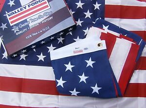 Valley Forge US American Flag 3'x5' BEST Cotton -Commercial/Heirloom Grade USA