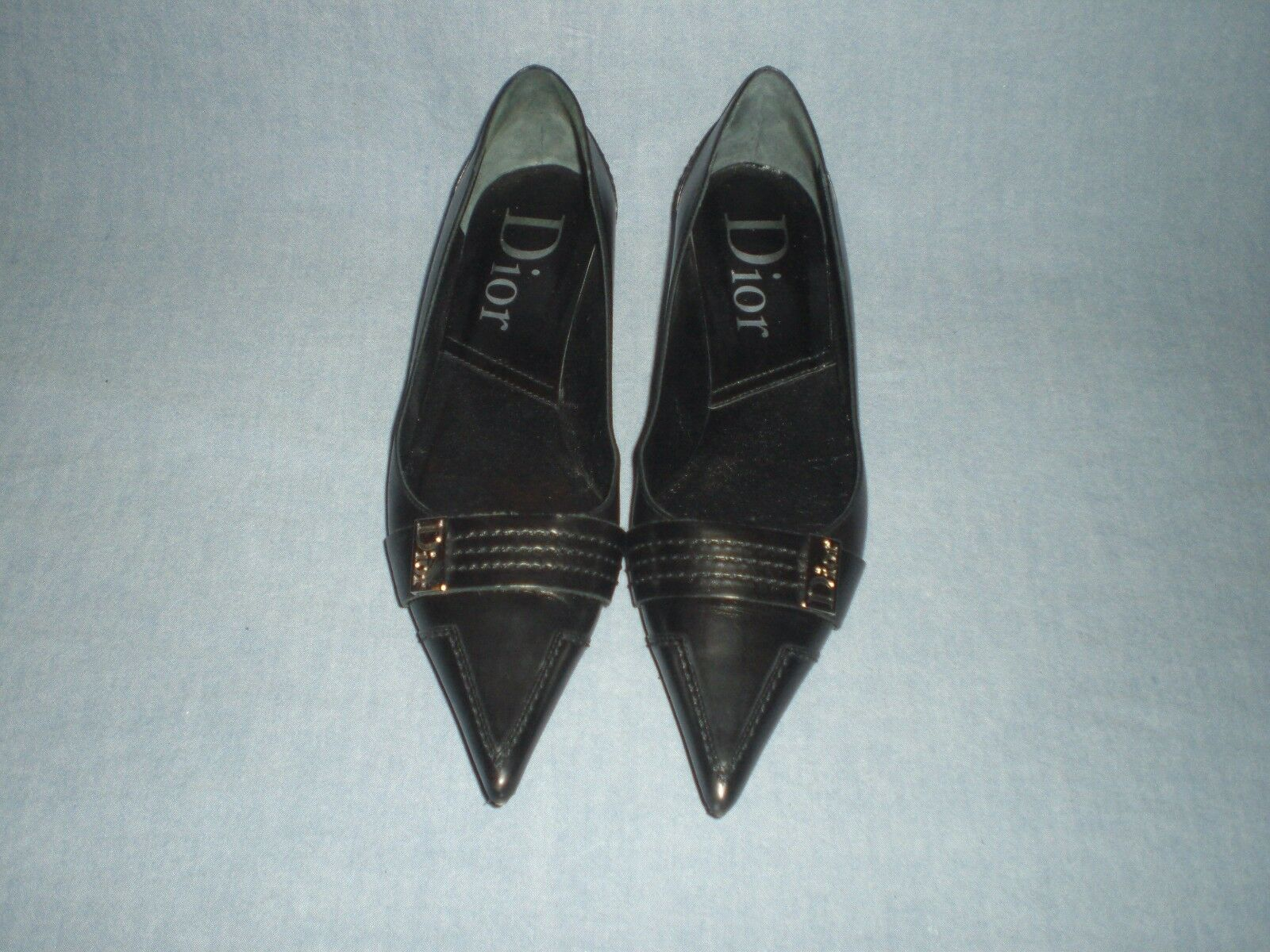 Christian Dior  Made in  Flats shoes In Black Size 36