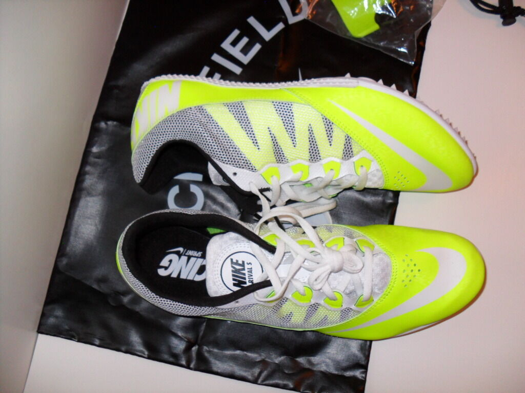 more photos 75b81 c7176 ... NEW MENS NIKE ZOOM RIVAL S 7 TRACK TRACK TRACK FIELD SPRINT SPIKE SHOES  VOLT 616313 ...