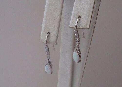 925 Sterling Argent Pendantes Crochet Style Boucles D/'Oreilles Avec 1.50 ct Opale//accents