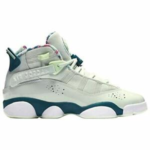 online store 56acf 36fc1 Image is loading Jordan-6-Rings-Barely-Grey-White-Green-Abyss-