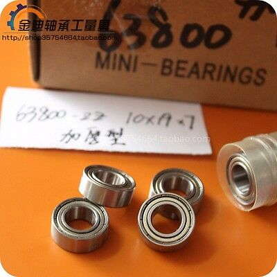 10 63800ZZ 10x19x7 10mm//19mm//7mm 63800Z Ball Deep Groove Radial Ball Bearings