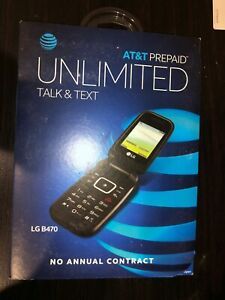 Lg B470 At T Prepaid Basic 3g Flip Phone Black Carrier Locked To At T 652810519823 Ebay