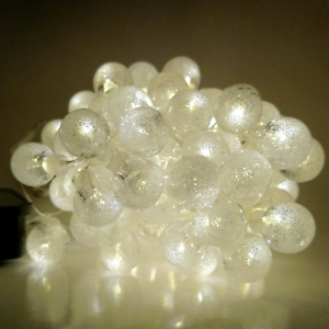 Solar Powered Air Bubble String Lights - 30 LED Warm White, 8 Modes