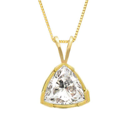 3.00 ct Emerald Necklace 14k Solid Yellow Gold Solitaire Pendant Gift for Women