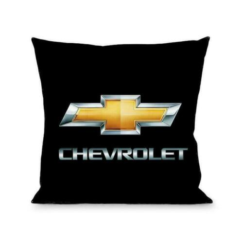 Single Throw Pillow Chevrolet Chevy Gold Bowtie 13 x 13 Polyester CHBO