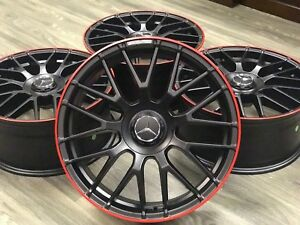 19 Mercedes Benz S550 Style Wheels Rims Amg S63 Redline Edition New