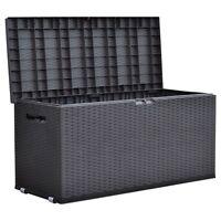 Gartentruhe Nizza Rattan Design Rollbox Auflagenbox Kissen Aufbewahrung Truhe