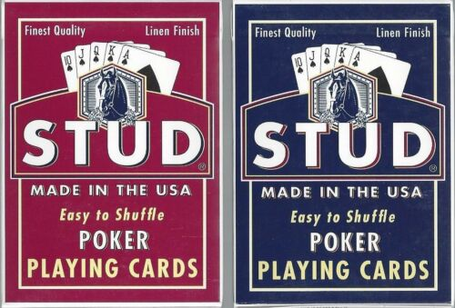12 DECKS Stud brand poker playing cards FREE USA SHIPPING