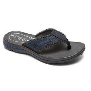 Rockport-Men-039-s-Get-Your-Kicks-GYKS-Thong-Flip-Flops-Blue-V79625