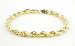 10k-Yellow-Gold-Real-Genuine-5mm-Italian-Diamond-Cut-Rope-Chain-Link-Bracelet-8-034