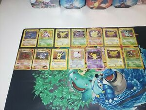 Pokemon-Holo-Card-Lot-14-Cards-Base-Set-Jungle-Fossil-Neo-all-Wotc