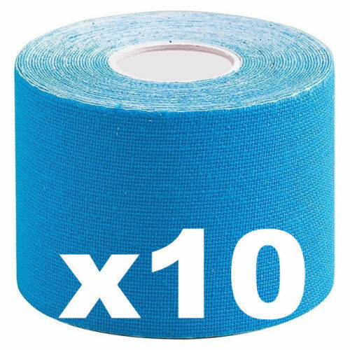 10 x Remedy Cure Tape Sport Elastic Physiotherapy Muscle Injury Blue Trendy