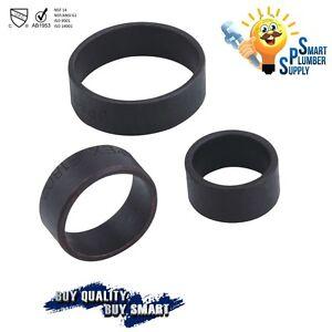 """1/2"""" COPPER PEX CRIMP RING , LOT OF 100 PCS (Black-oxidized surface)"""