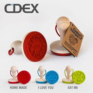 Keksstempel-Cookie-Stamper-Plaetzchen-Keks-Stempel-Home-Made-I-Love-You-Eat-Me