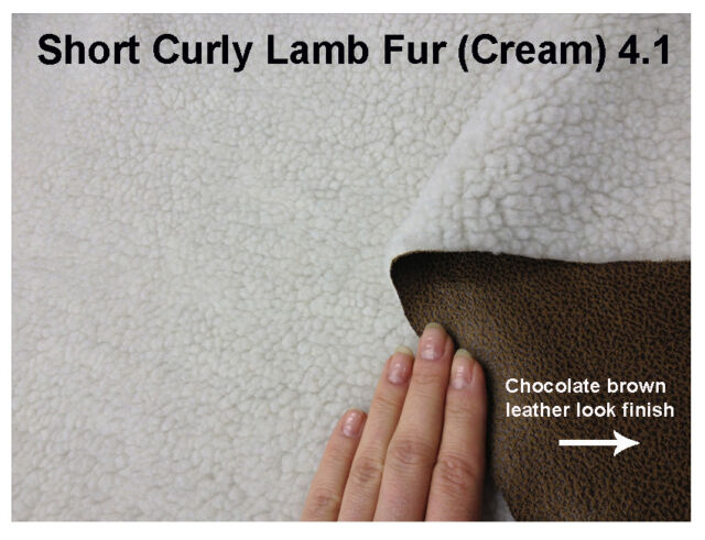 Curly Faux Lamb Fur Fabric,(4x5cm sample colour testers & per metre purchasing)