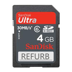 4GB SanDisk Ultra 4GB SD SDHC Class 6 30MB/S C6 Speicherkarte SDSDU-004G ECHTEN