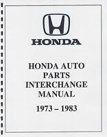 Honda Auto Part Interchange Manual 1973-1983