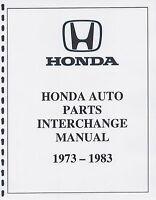 Honda Auto Part Interchange Manual 1973-1983