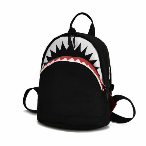 Piacere escolar 3D Estilo Tiburon para niños mochila de bebe matériel de lona Sacs