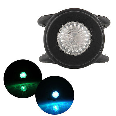 Bicycle Bike Silicone Head Rear LED Flash Flashlight Warning Light Black Bright