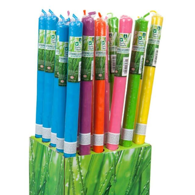Superieur 30cm Citronella Garden Candle On Bamboo Stick   1 X Random Colour Sent