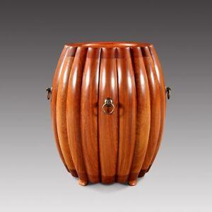 Ming-Dy-STL-HandMade-Drum-Stool-Melon-Stool-Zen-Seat-Aged-rosewood-wood-1110