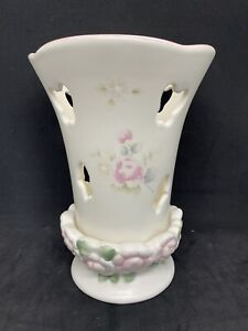 Pfaltzgraff-Tea-Rose-Butterfly-Tea-Light-Candle-Holder-CUTE-EUC