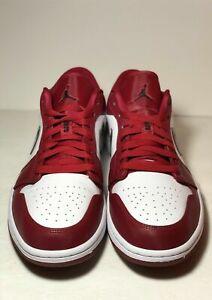 Nike-Men-s-Air-Jordan-Retro-1-Low-Noble-Red-White-Black-553558-604-SIZE-13-US