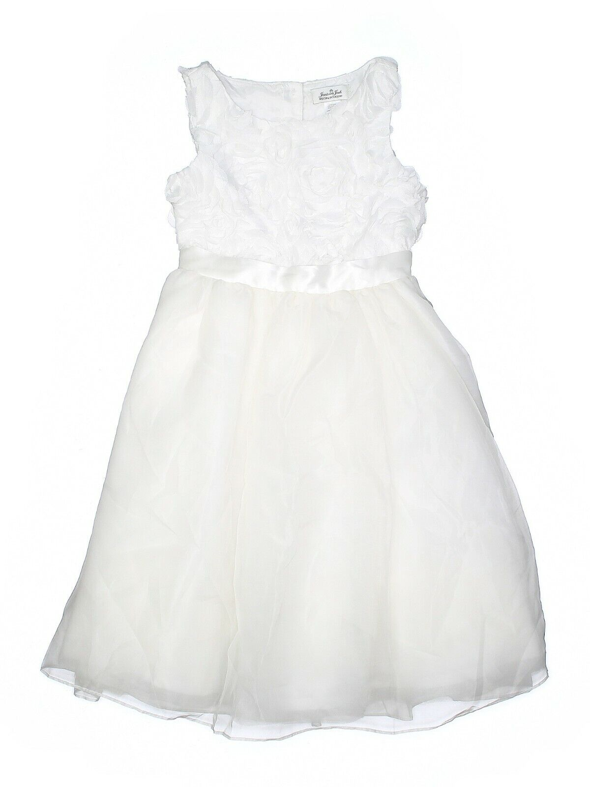 Janie and Jack SPECIAL OCCASION ROSETTE DRES Flower Girl First Communion 5