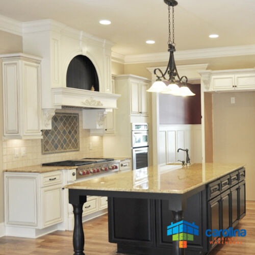 All Solid Wood Kitchen Cabinets Geneva 10x10 Rta: Antique White Cabinets