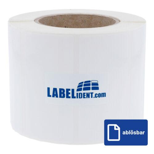 """1000 wetterfeste Etiketten 3/"""" PE Polyethylen Etiketten 90 x 60 mm ablösbar"""