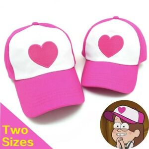 Details About Gravity Falls Pink Heart Cap Hat Mabel Dipper Cartoon Baseball Caps Trucker