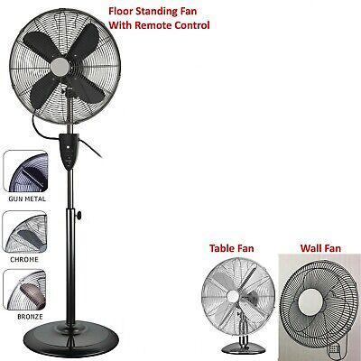 """16/"""" Piedistallo Ventilatore oscillante Fan 16/"""" Stand Up Ventilatore Ufficio 400mm x 2 Fan 3 velocità"""