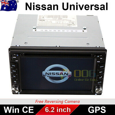 "6.2"" Double 2 DIN Car DVD Player Radio Stereo GPS BT CD for Nissan universal"