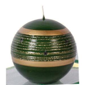 Dekorkerze-Kerzen-Kugel-034-Jupiter-034-gruen-034-Stern-034-80-mm