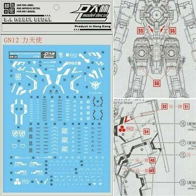 HOT DL GN12 Water Stickers Decal for Bandai MG 1//100 GN-002 Gundam Dynames Model