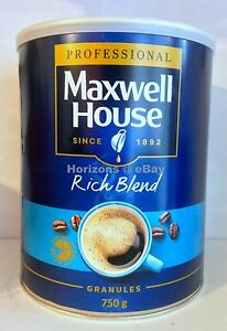 Details About Maxwell House Coffee Rich Blend Coffee 750g Large Tin Free Uk Postage