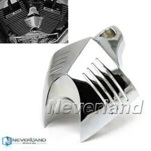 Billet Chrome V-Shield Horn Cover For Harley Davidson Choppers Cruisers 1992-13